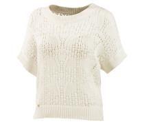 Shirt Strickpullover Damen, weiß