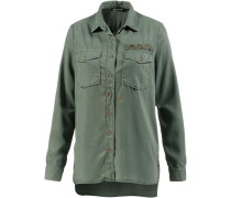 Langarmbluse Damen, military green