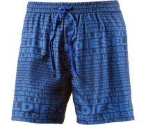 Wave Badeshorts Herren, blau/allover