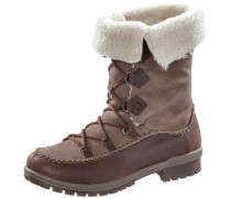 Emery Lace Leather High Winterschuhe Damen, braun