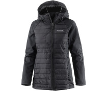 WADDED SOFTSHELL Steppjacke Damen, BLACK BEAUTY