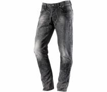Straight Fit Jeans Herren, schwarz