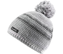 Mütze Kunita Pompon Bommelmütze, weiß-grau