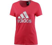 Foil T-Shirt Damen, rosa