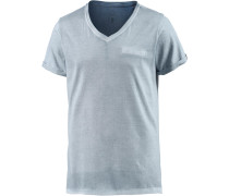 T-Shirt Herren, blau washed