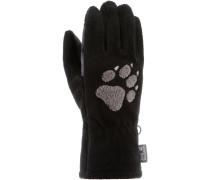 Paw Fleece Handschuhe, schwarz