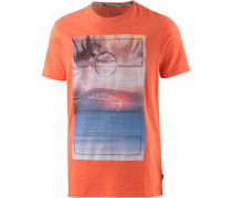 Pursue Printshirt Herren, orange