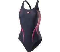 Activeturn Placement Powerback Schwimmanzug Damen, navy/orange/rot