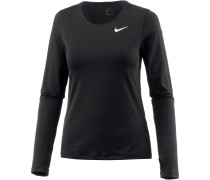 Pro All Over Mesh Langarmshirt Damen, black-white
