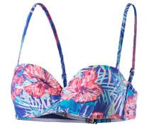 Mix Blossom Bikini Oberteil Damen, royal/koralle/jade