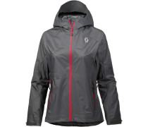 DRYO Fahrradjacke Damen, dark grey/ruby red