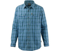 Crossley Funktionshemd Herren, moroccan blue checks