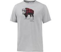 Check the Buffalo II T-Shirt Herren, grau