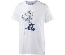 Printshirt Herren, weiß