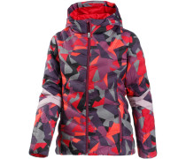 Geared Steppjacke Damen, red camo print