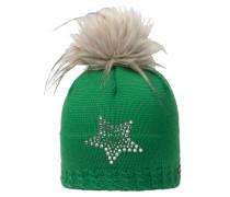 Selina Lux Crystal Bommelmütze, grün