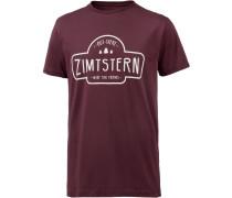 Ruztic Printshirt Herren, rot