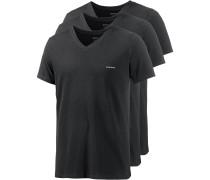 V-Shirt Herren, schwarz