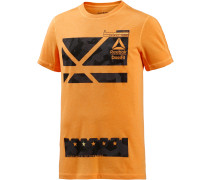 Crossfit Printshirt Herren, orange