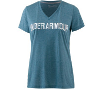 Threadborne V Graphic T-Shirt Damen, BAYOU BLUE/WHITE