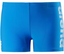 Kastenbadehose Jungen, pix blue/white