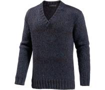 V-Pullover Herren, dunkelblau/bordeaux