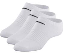 LIGHTWEIGHT NO SHOW Socken Pack, weiß