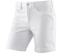 Jeansshorts Damen, white denim