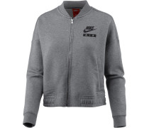 NSW Varsity Air Sweatjacke Damen, carbonheather-coolgrey-black