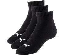 Quarter Socken Pack, schwarz