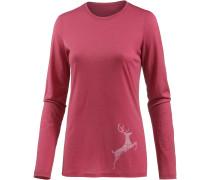 Tech Lite Printshirt Damen, leap wild rose