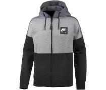 Kapuzenjacke Herren, carbon heather-dark grey-black