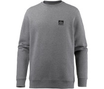 Crew Sweatshirt Herren, HEATHER/GREY