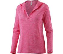 TECH V-Langarmshirt Damen, pink/melange