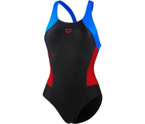 Rem Schwimmanzug Damen, black/red/pix blue