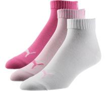 Socken Pack Damen, rosa/weiß/pink