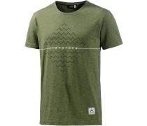 Nabilz Printshirt Herren, grün