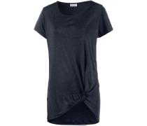 T-Shirt Damen, dunkelblau melange