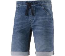 Jeansshorts Herren, stone blue denim