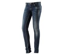 Leona Skinny Fit Jeans Damen, blau