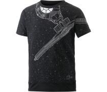 Printshirt Jungen, schwarz