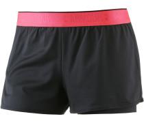 Heatgear Armour Shorts Damen, BLACK/BLACK/METALLIC SILVER