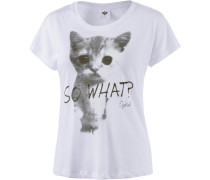 So What Dolman T-Shirt Damen, weiß
