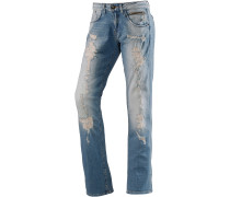 Boyfriend Jeans Damen, blau