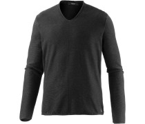 V-Pullover Herren, schwarz