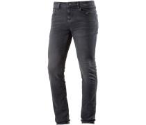 CULVER Slim Fit Jeans Herren, dark stone black denim