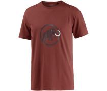 Logo Printshirt Herren, braun