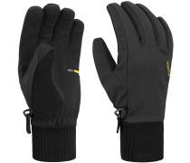 Aquilis Fingerhandschuhe Damen, schwarz