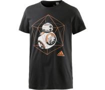 Star Wars BB-8 Printshirt Herren, schwarz