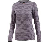 Oasis Langarmshirt Damen, silk hthr/eggplant